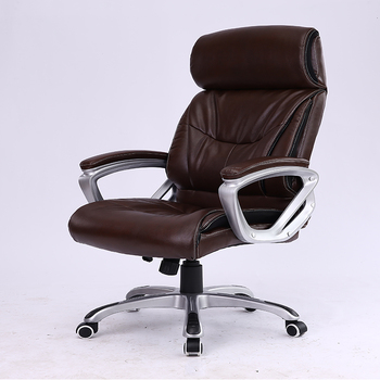 Modern Design Rotation 50cm Seat Depth Leather Office Captains Chairs With  SGS Certificate