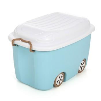 Car Shape Plastic Baby Kids Toy Organizer Container Storage Box