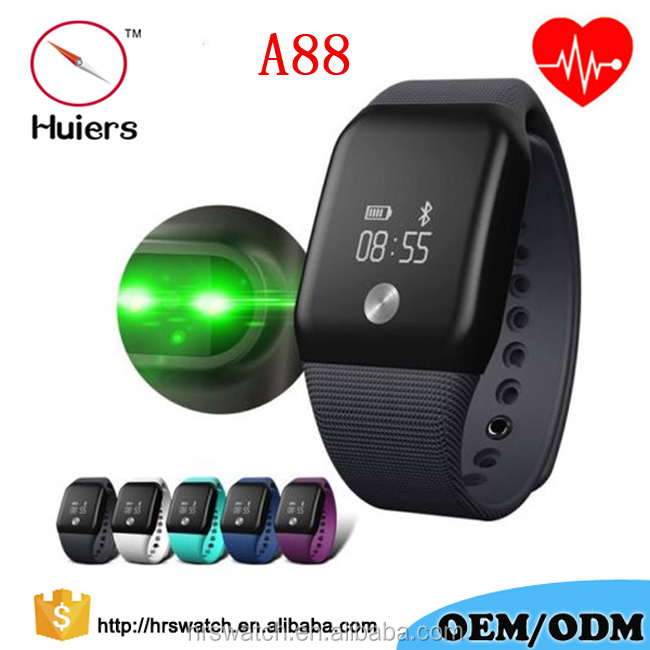 2017 New A88 plus fitness tracker heart rate blood oxygen wrist blood pressure monitor