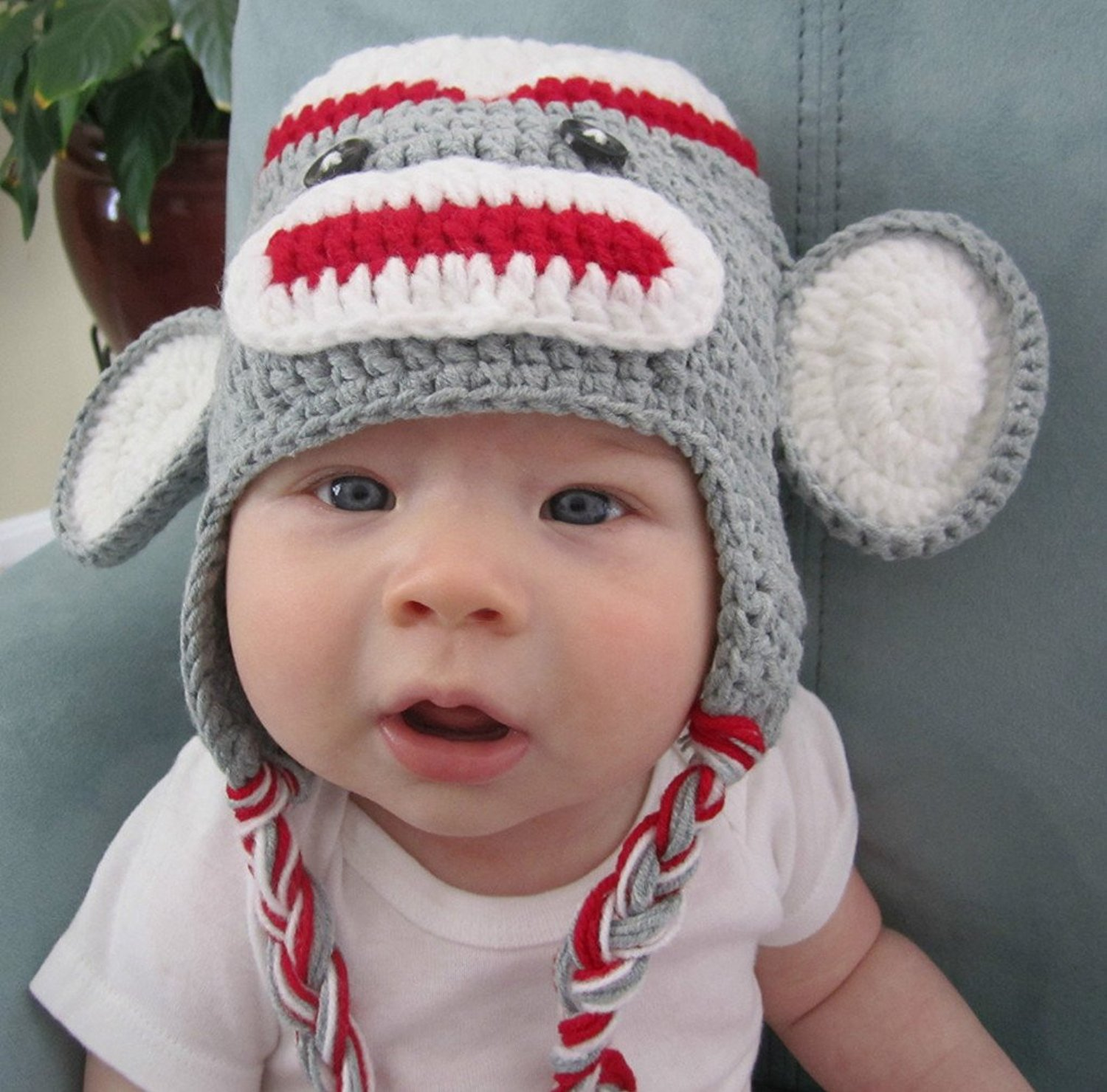 d6616440 Buy Amasale Baby Knit Hat Monkey with Braids Animal Beanie in Cheap ...