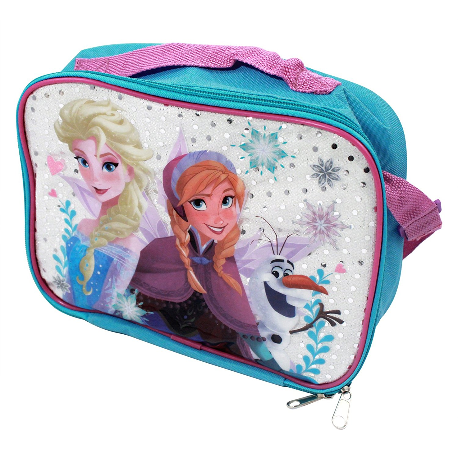 55aab784e13 Get Quotations · Disney Frozen DFB0313 Snowflakes Soft Insulated Lunch Bag
