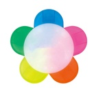 Factory wholesale custom 5 in 1 color flower shape highlighter marker