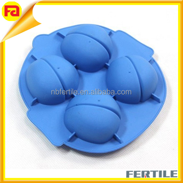 High quality new style food-grade brain shape large ice cube tray silicone ice cube tray