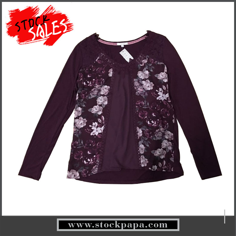 Wholesale plain v neck purple sweatshirts for ladies
