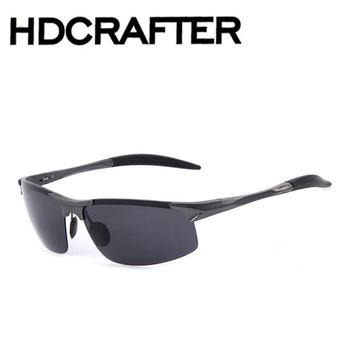 dc5584a4dd1c0 HDCRAFTER Aluminum Mens Sunglasses Sport Polarized Sun glasses Driving  Eyewear Accessories For Men oculos de sol