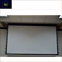 4K Home theater Top Grade Fashional ALR Long Throw Motorized Hidden In-Ceiling Projector Screen Fabric HCL1-Black Crystal