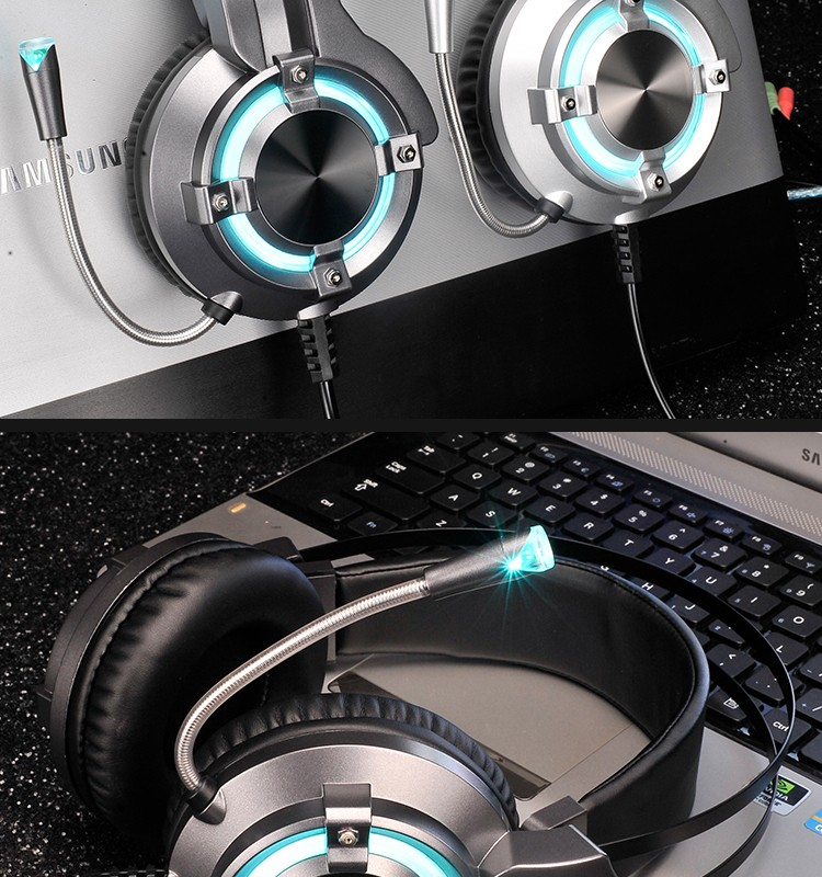 2017 New Design Wired Gaming Headphones With Breathing Led