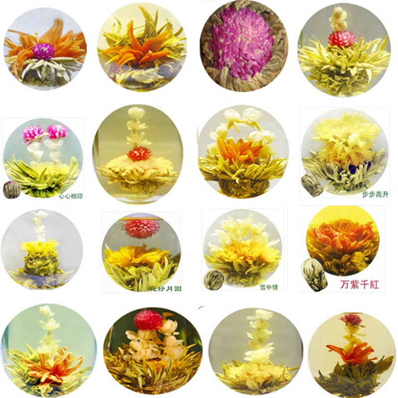 16 Kinds of Handmade Blooming Flower Tea 130g Artistic The Tea For <strong>Health</strong> Care Products Chinese Ball Blooming Flower Herbal Tea