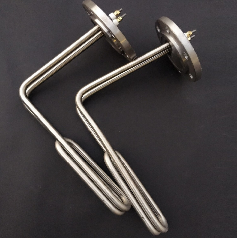 220V 2KW Flange Immersion Heater for various oil firing machine or heavy oil <strong>heating</strong>