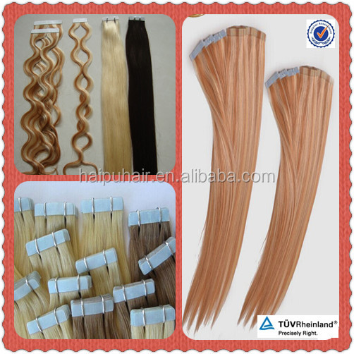 Blond Hair Tape Products Brazilian kinky curly Hair Human Skin weft 100g 40pcs/lot Tape Hair Extension #613 Bleach Blonde