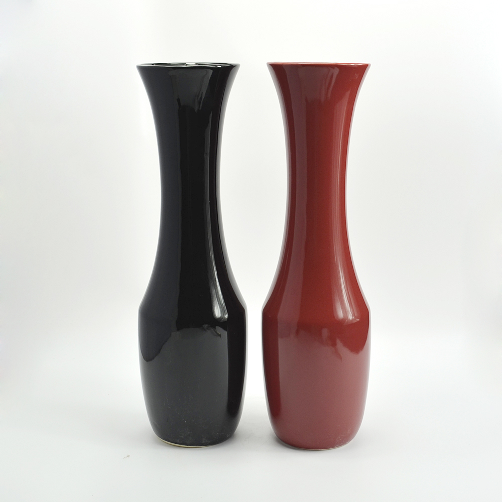 Modern decor lagena tall pure color vases made of clay