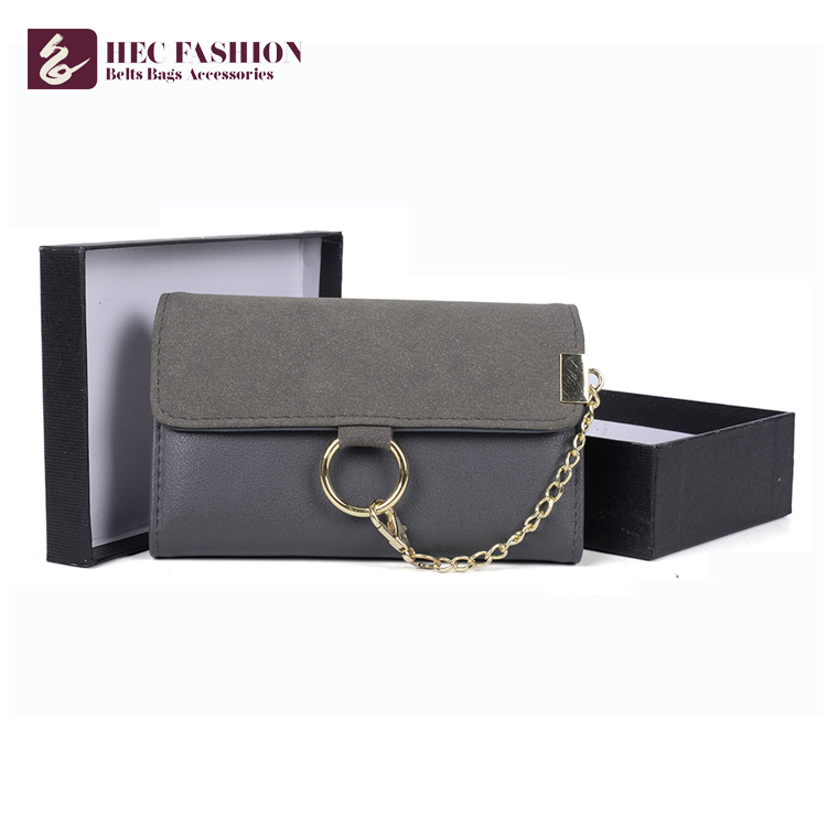 HEC China Suppliers 255G Security Waterproof Plain Folding Travel Fashion PU Wallet