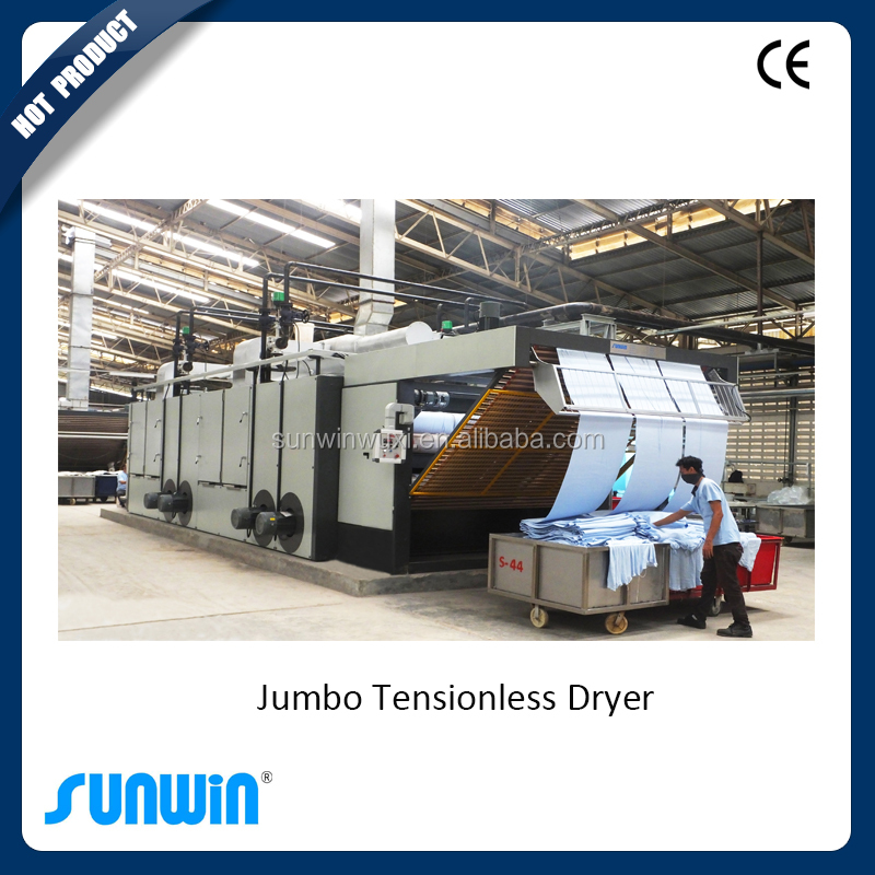 New designed hot air drying machine for knit and woven fabric