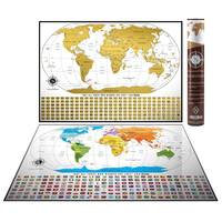 Deluxe Wordsworth & Bl?ck World Map To Scratch Off - Premium Personalized World Map For Any Traveler AMA-83