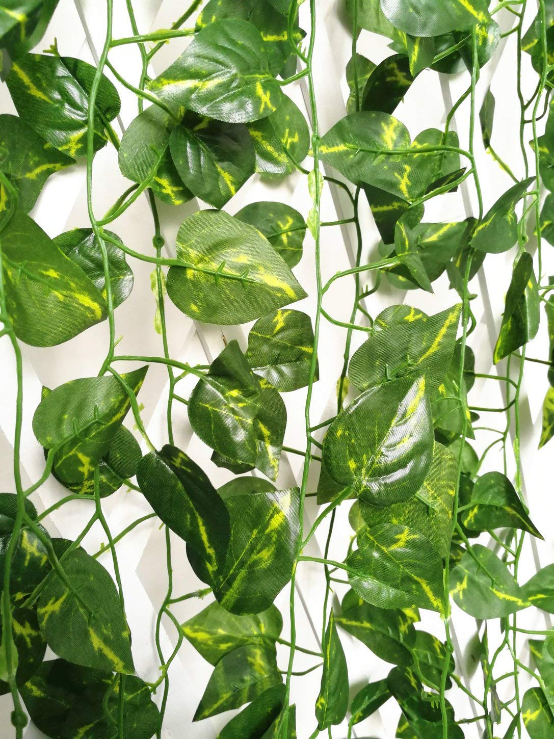 ShinyBeauty artificial vines with leaves artificial ivy screening artificial ivy plant vines 12pcs (84 Feet)