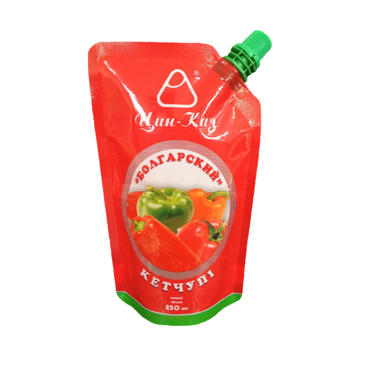 plastic packaging for ketchup/spout pouch for ketchup bags/fruit jam plastic packaging bag