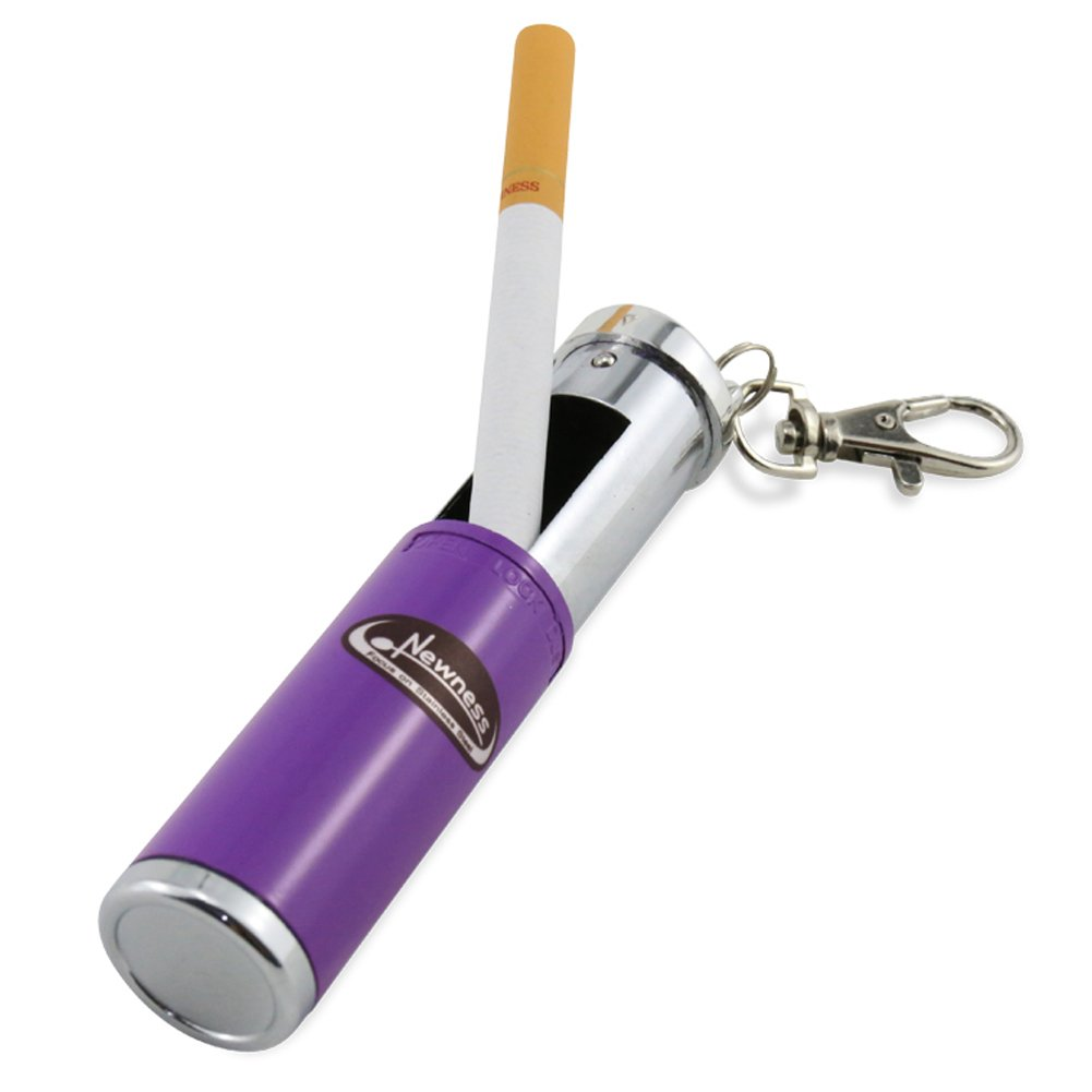 Portable Ashtray, Newness Modern Portable Ashtray, Cigarette Ashtray for Outdoor Use, Ash Holder for Smokers, Pocket Smoking Ash Tray with Lid, Key Chain for Easily Bringing When Travelling