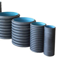 HDPE used corrugated plastic pipe prices for drainage