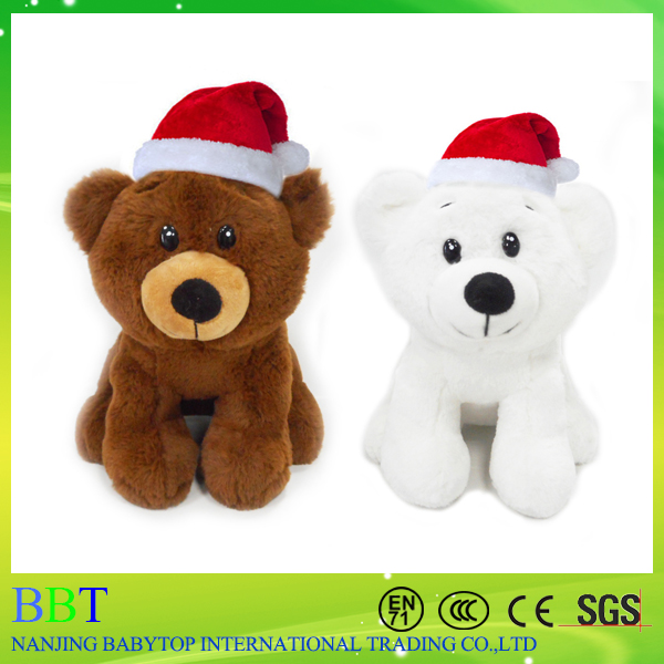 Wholesale stuffed animal toys plush Christmas Polar Bear