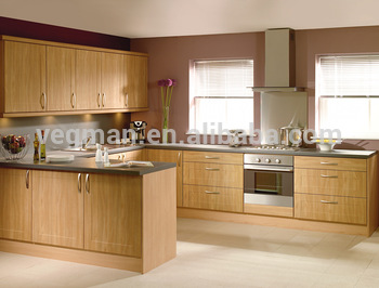 Assemble Pvc Wood Grain Kitchen Cabinets Pakistan