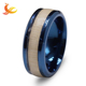 Factory wholesale Fashion Titanium Steel Wood Blank Ring For Inlay