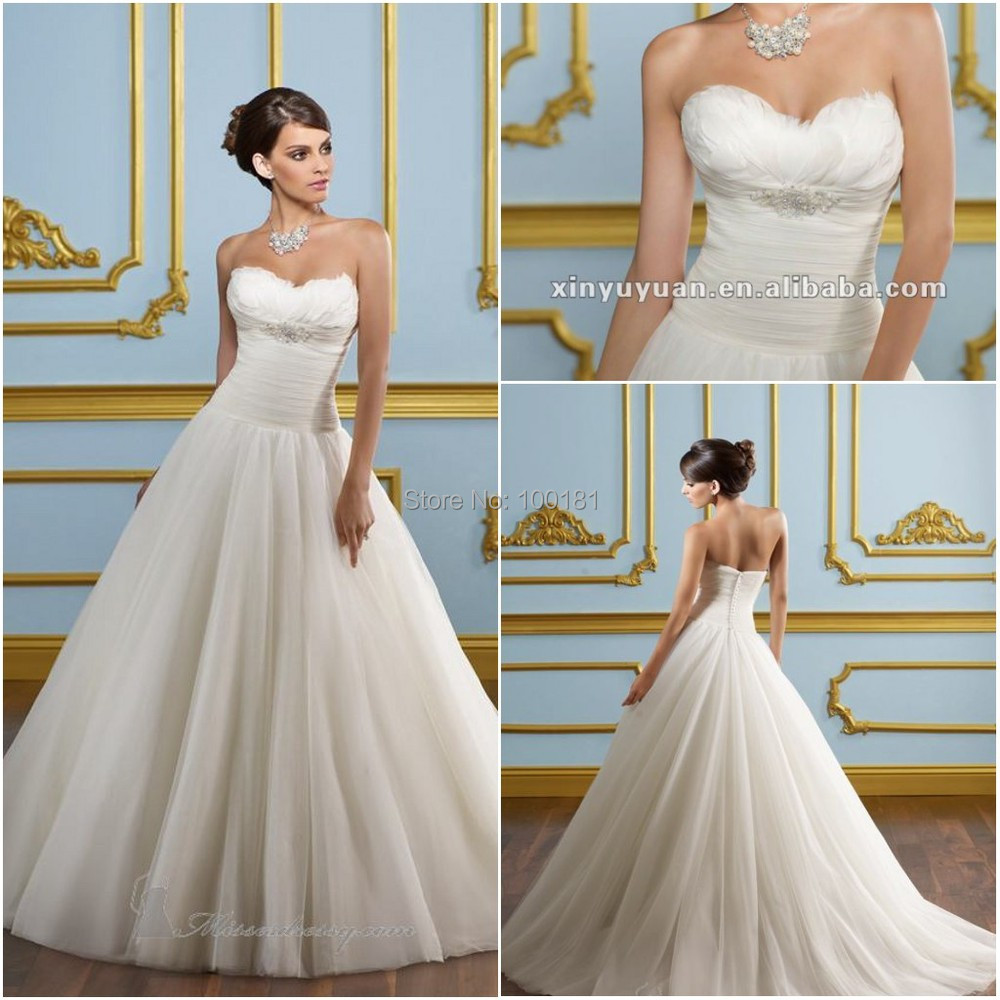 Discount Designer Wedding Gowns: Aliexpress.com : Buy Designer A Line Feather Wedding