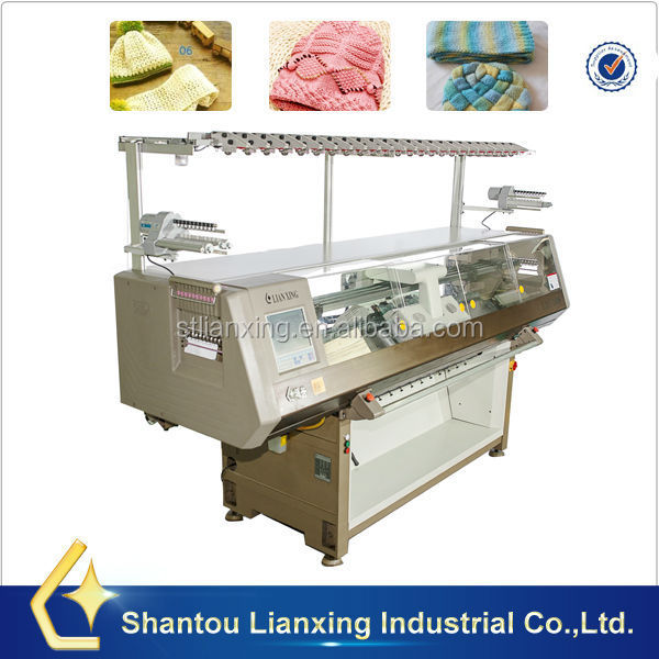 Cap flat knitting machine