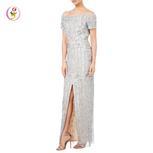 short sleeve womens maxi long dress with sex cold shoulder