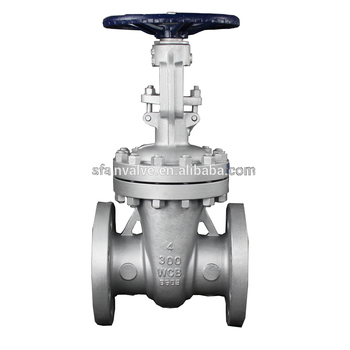 BB os y Cast Steel WCB Ansi Class 300 4 Inch Water Gate Valve DN100 Handle