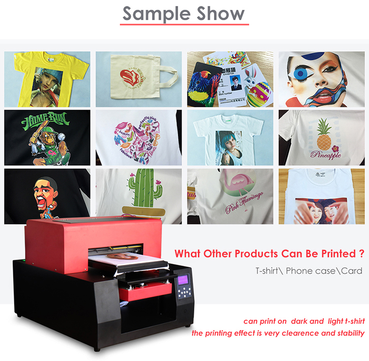 Digital T-Shirt Printing Machine Dgt T-shirt flat bed printer for sale in China with Textile ink package
