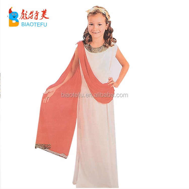 Carnival girl greek toga kids Roma greek goddness cosplay fancy dress costumes whosale in stock