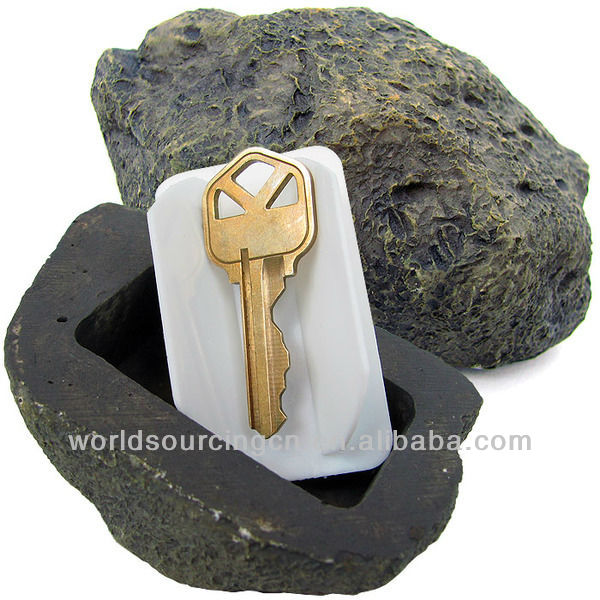 Realistic Rock Outdoor Key Holder