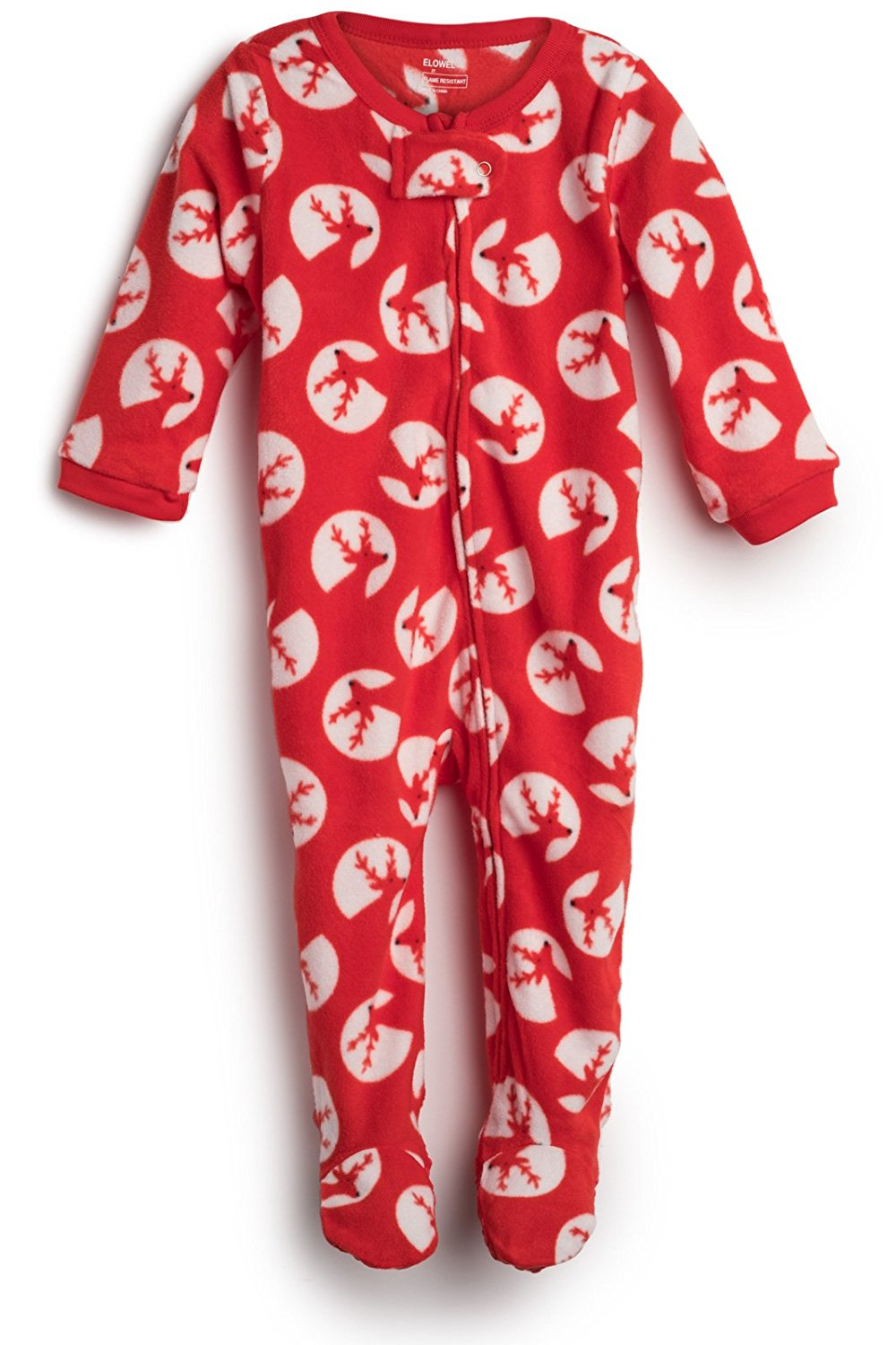 6e56b4a798 Get Quotations · Elowel Baby Girls Footed Fleece Sleeper Pajamas (Size  6M-5Years)