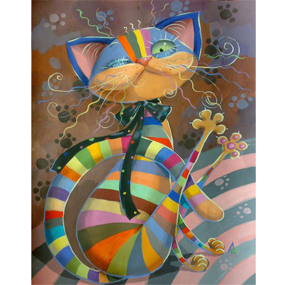 Abstract Colorful Cat 3d Diy Diamond Painting C 58 30x20cm Buy 3d Diy Diamond Painting High Quantily Diamond Painting Diamond Painting Kits Product