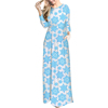 New Arrivals Fashion Snowflake Print White Women Casual Loose Fit Floral Maxi Dress Long Sleeve