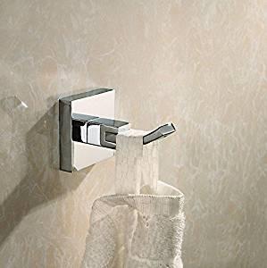 1pcs Br Hooks Coat Hangers Single Hook Towel Robe Clothes Bathroom