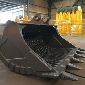 Customized high quality Wheel loader sorting skeleton/sieve bucket