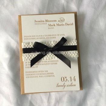 Luxurious Tissue Paper Letterpress Wedding Invitation Card Buy