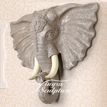 Popular Design Modern Animal Resin Sculpture of Elephant