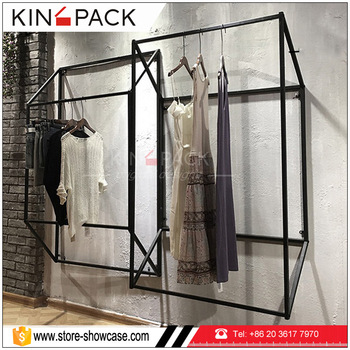 Wall Clothes Hanger Rack Display