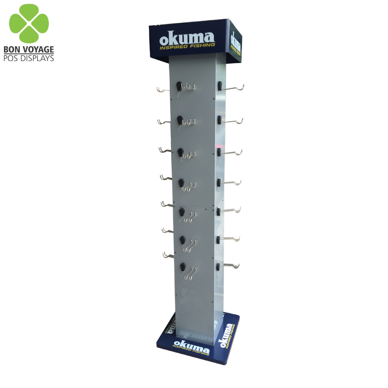Hot selling wire display floor stand rack for retail shop