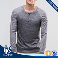 Shaodao Factory Direct Sale O-neck 180g 95% Cotton 5% Elastane with Three Bottoms best company t shirts