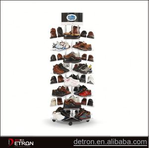 Store acrylic leather shoes display racks