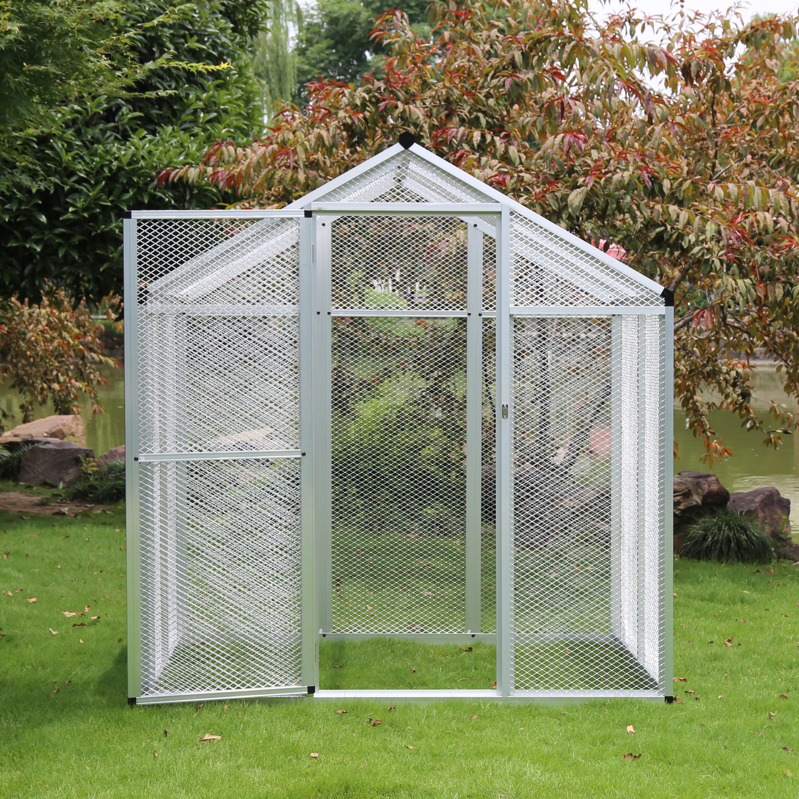 Large Outdoor Aluminum Simple Easily Embled Bird Cage