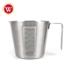kitchen Accessories Stainless Steel Coffee Milk Measuring Jug with window