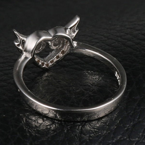 Engagement personalisiert Ring Eule Ring Design