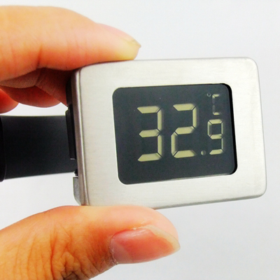 Digital LCD Wine Bottle Thermometer for Beer, Champagne, Whisky with Stainless Steel Plate