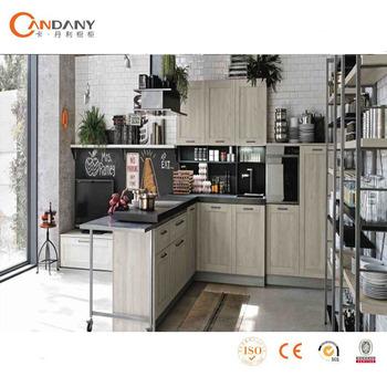 2017 Penjualan Panas Kayu Solid Country Kitchen Kabinet Pengrajin Dapur Bangku Bar