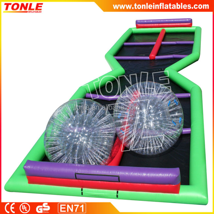 Zorbie Extreme X Inflatable Track/ Inflatable Zorb Ball Track/ Inflatable Air Track
