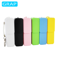 Sliding plastic power bank 2600mah, mobile power supply, portable usb battery